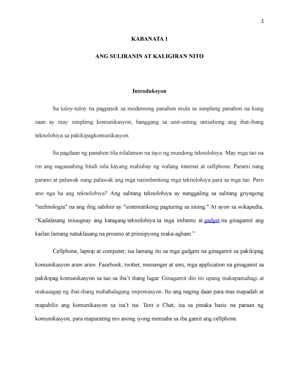 epekto ng social media sa mga estudyante thesis