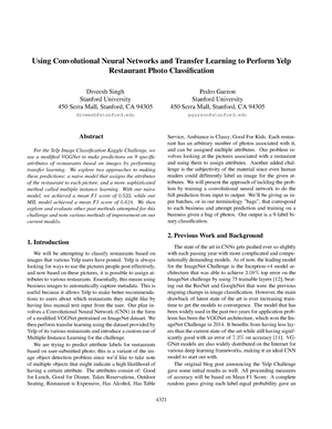 Using convolutional neural networks and transfer learning to