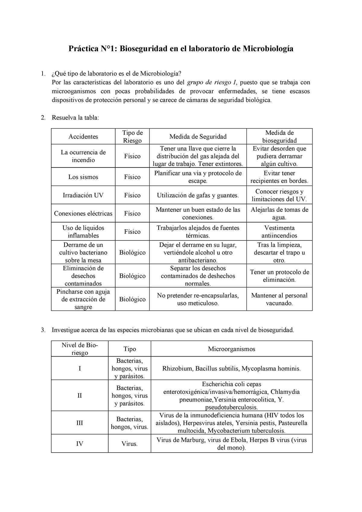tabla de diferencias entre bacterias, virus, hongos y parásitos