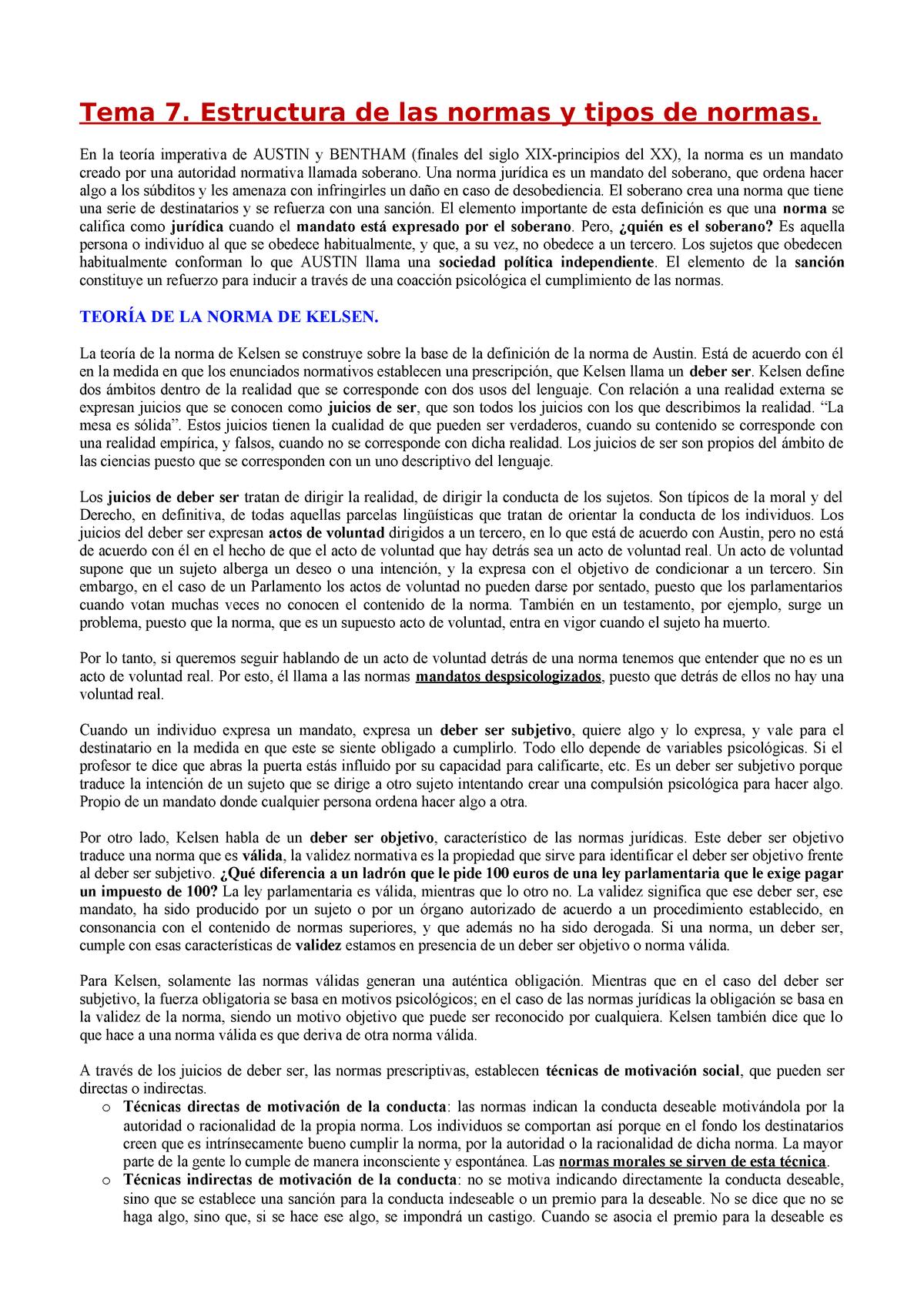 Tema 7 Estructura De Las Normas Y Tipos De Normas 13690