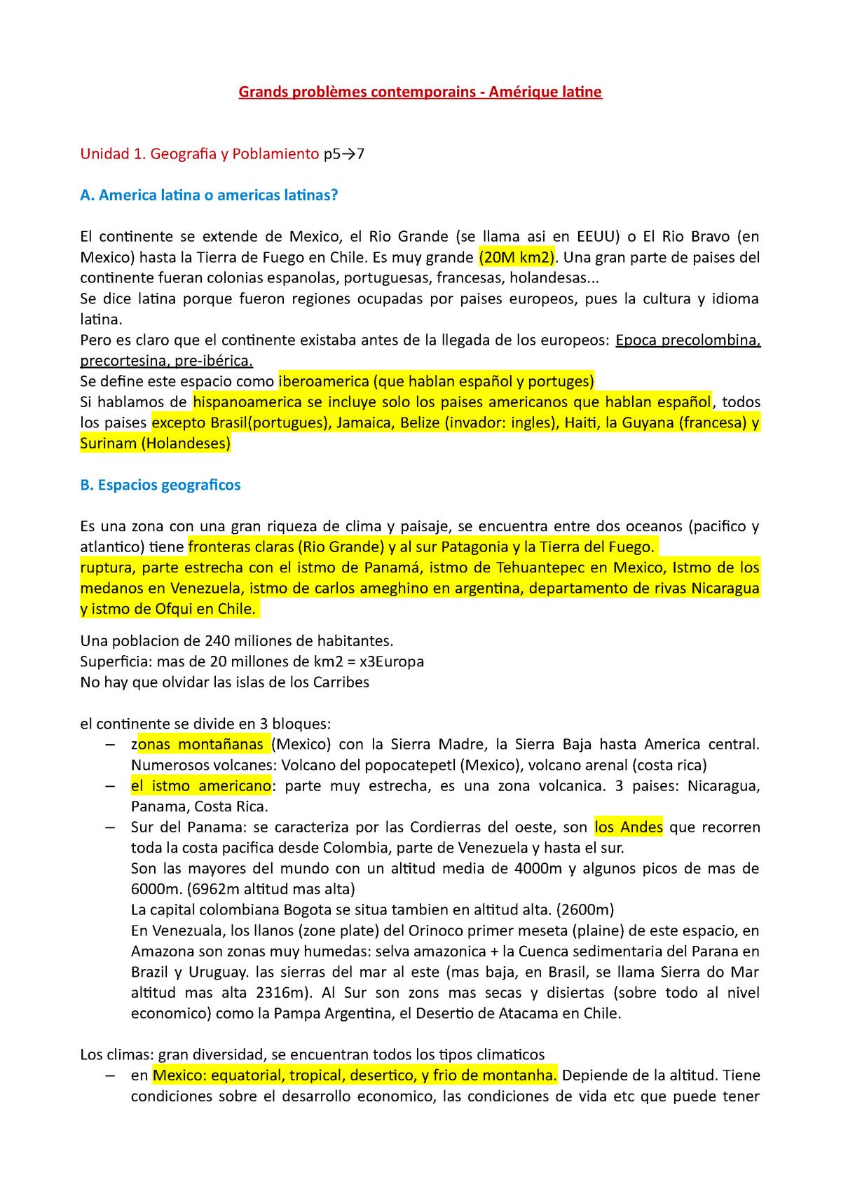 Grands Problemes Contemporains Amerique Latine Studocu