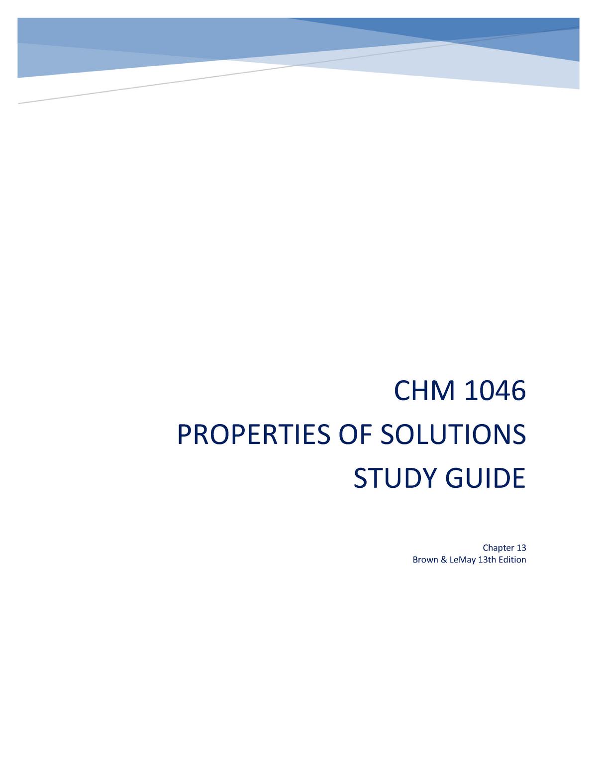 Ch 13 Properties Of Solutions Study Guide Studocu [ 1553 x 1200 Pixel ]