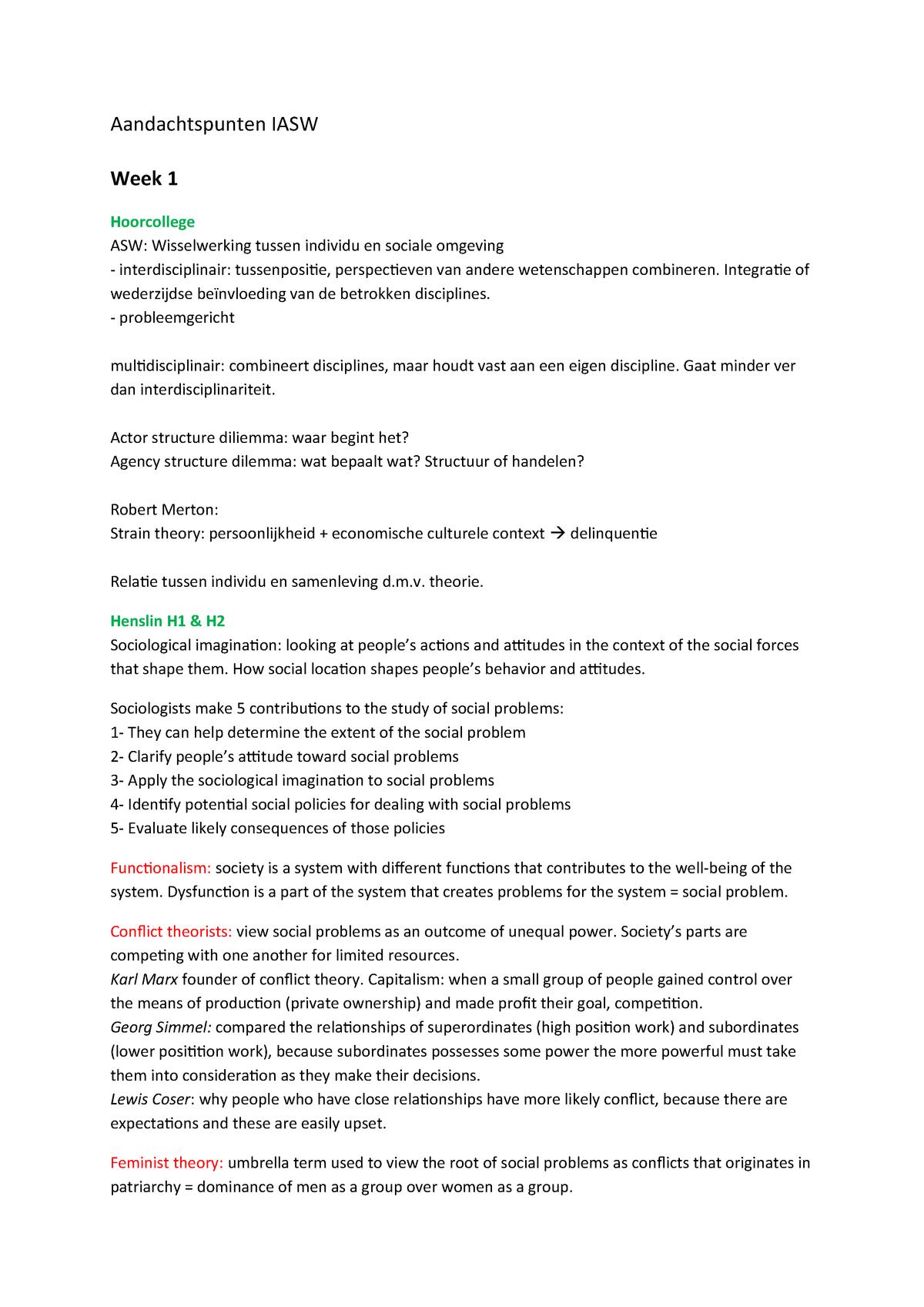 Aandachtspunten samenvatting aandachtspunten voor tentamen - 201100003 - studocu