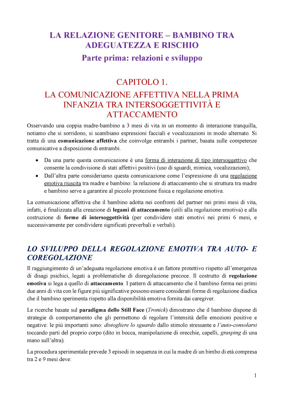 2af9faefe8 Riva Crugnola - La relazione genitore-bambino - F5101P026 - StuDocu