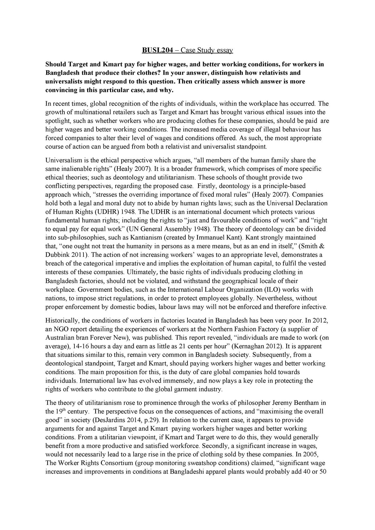 Higher english poem essays