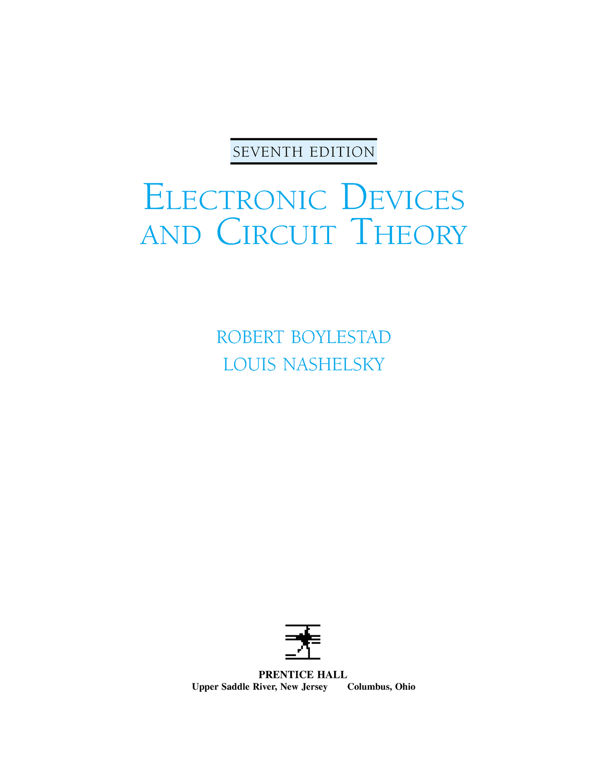 Electronic Devices and Circuit Theory Robert Boylestad Louis