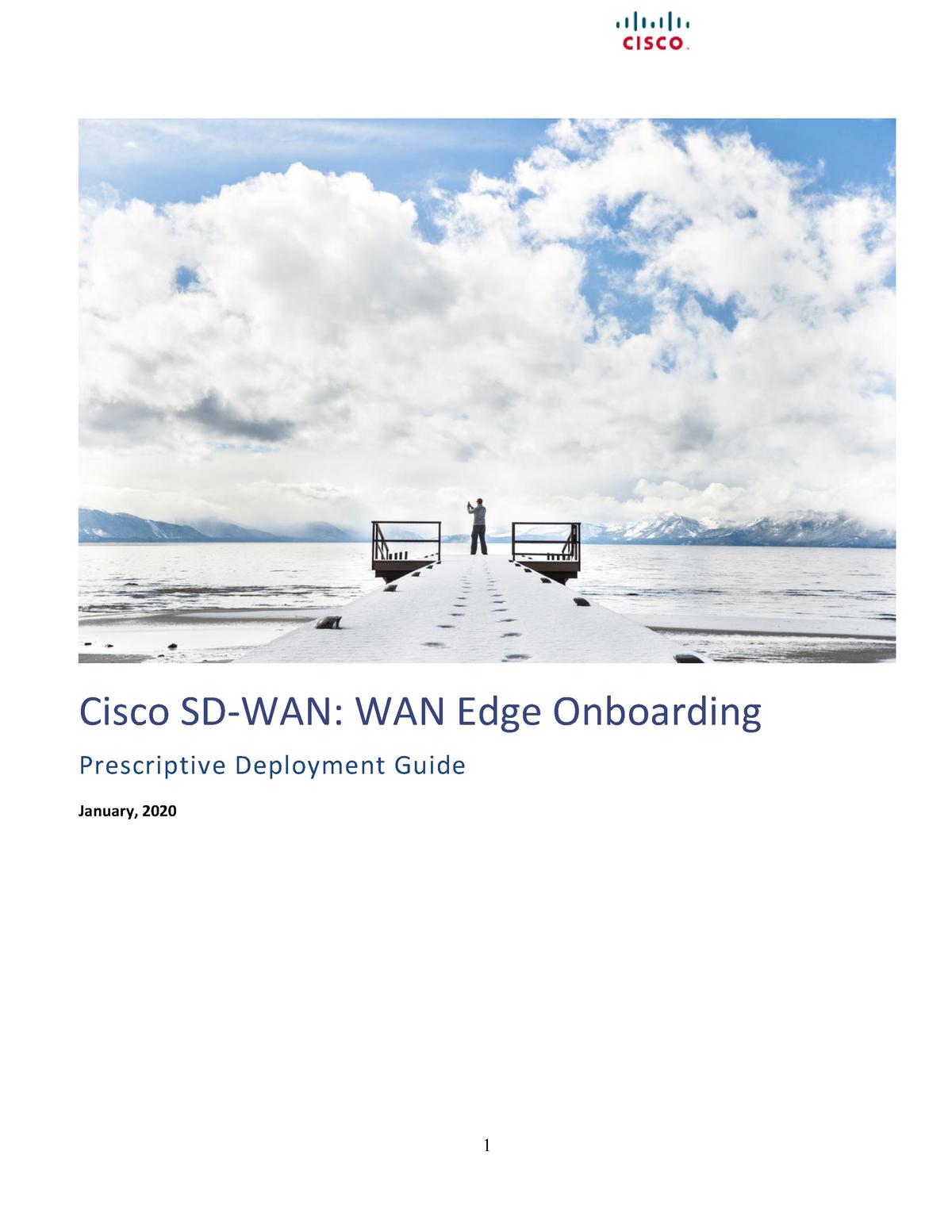 Sd Wan Wan Edge Onboarding Deploy Guide 2020jan Studocu