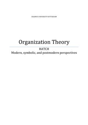 modernism and symbolic interpretivism theory organizational