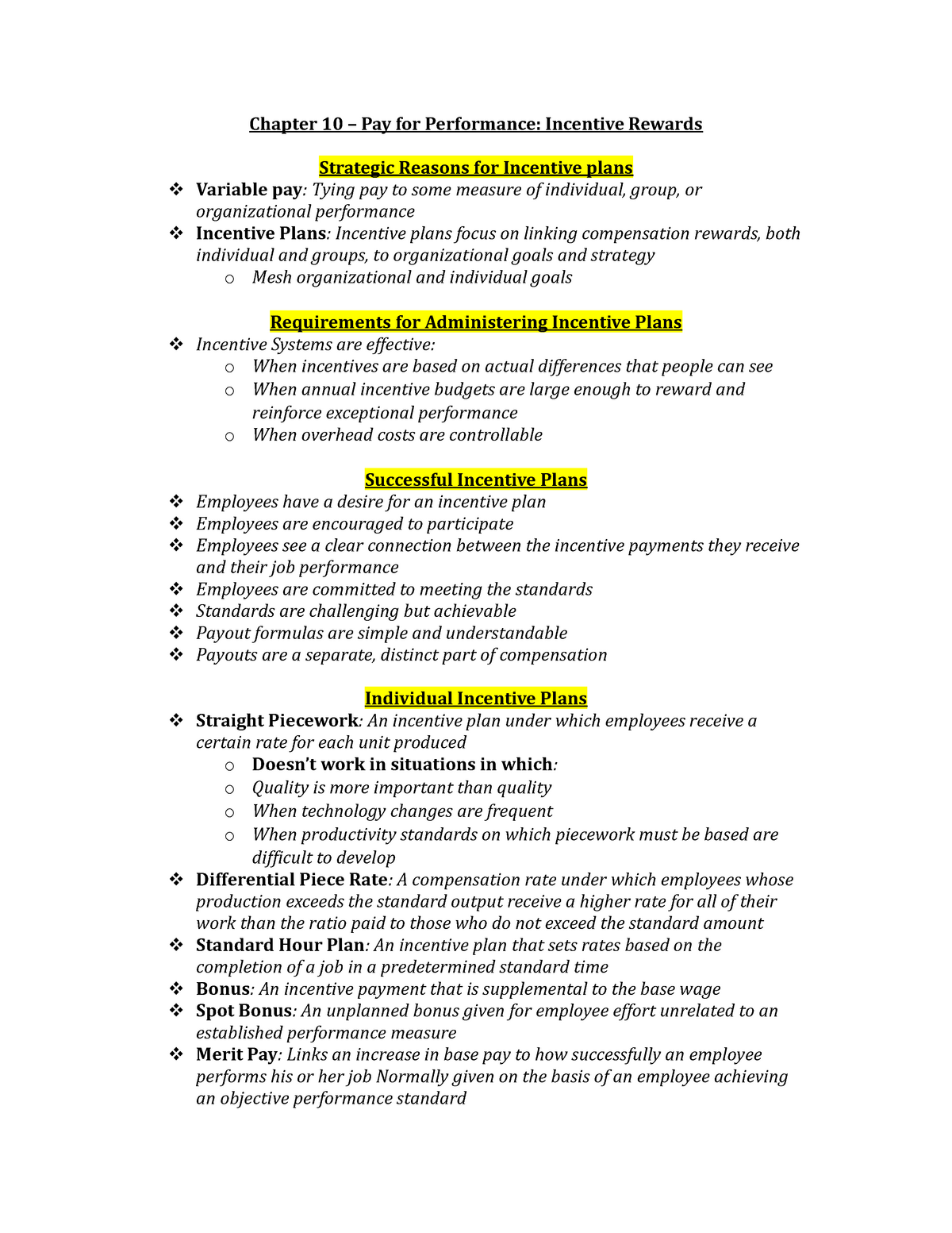 Chapter-10 - Summary Human Resource Management - ADM2337 - StuDocu