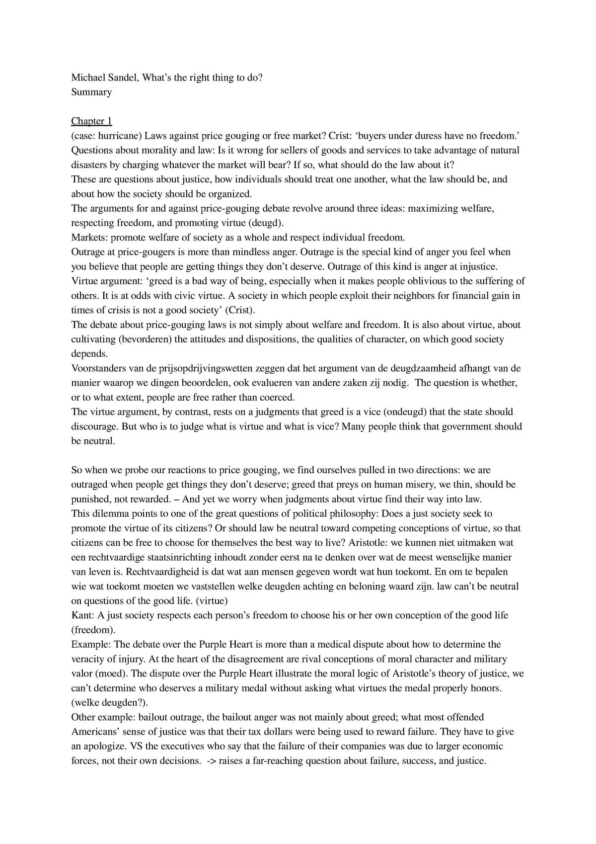 Do the right thing summary essay