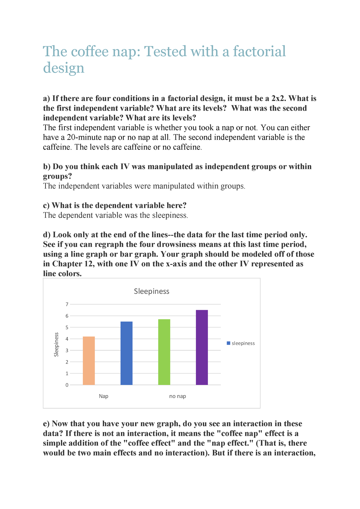 The coffee nap - 424502: Inleiding methodenleer - StuDocu