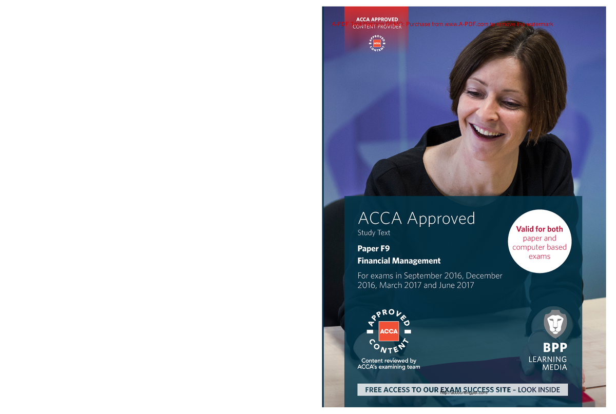 BPP ACCA F9 Financial Management Book 2017 - AC3059 - London