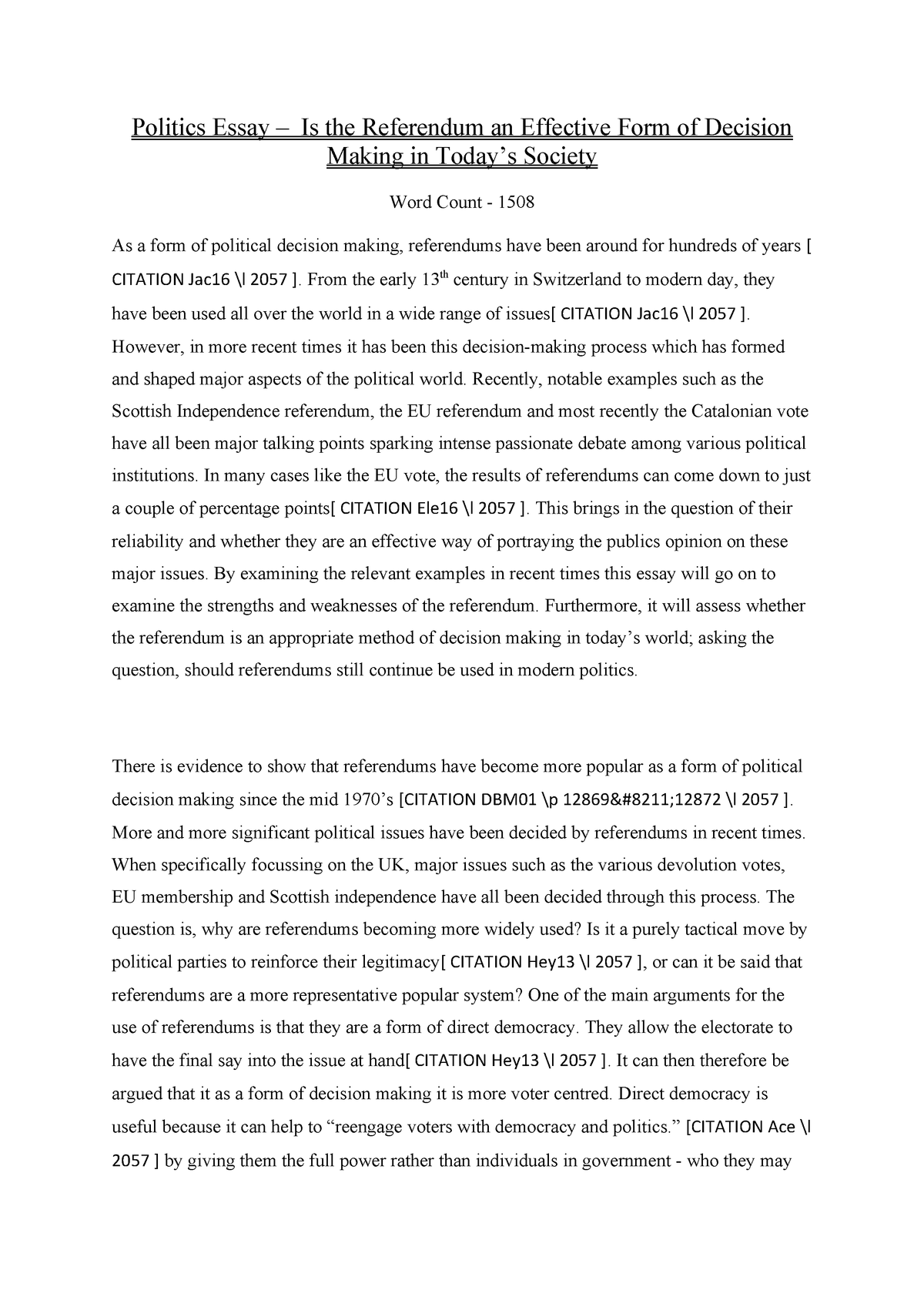 I need help with a thesis