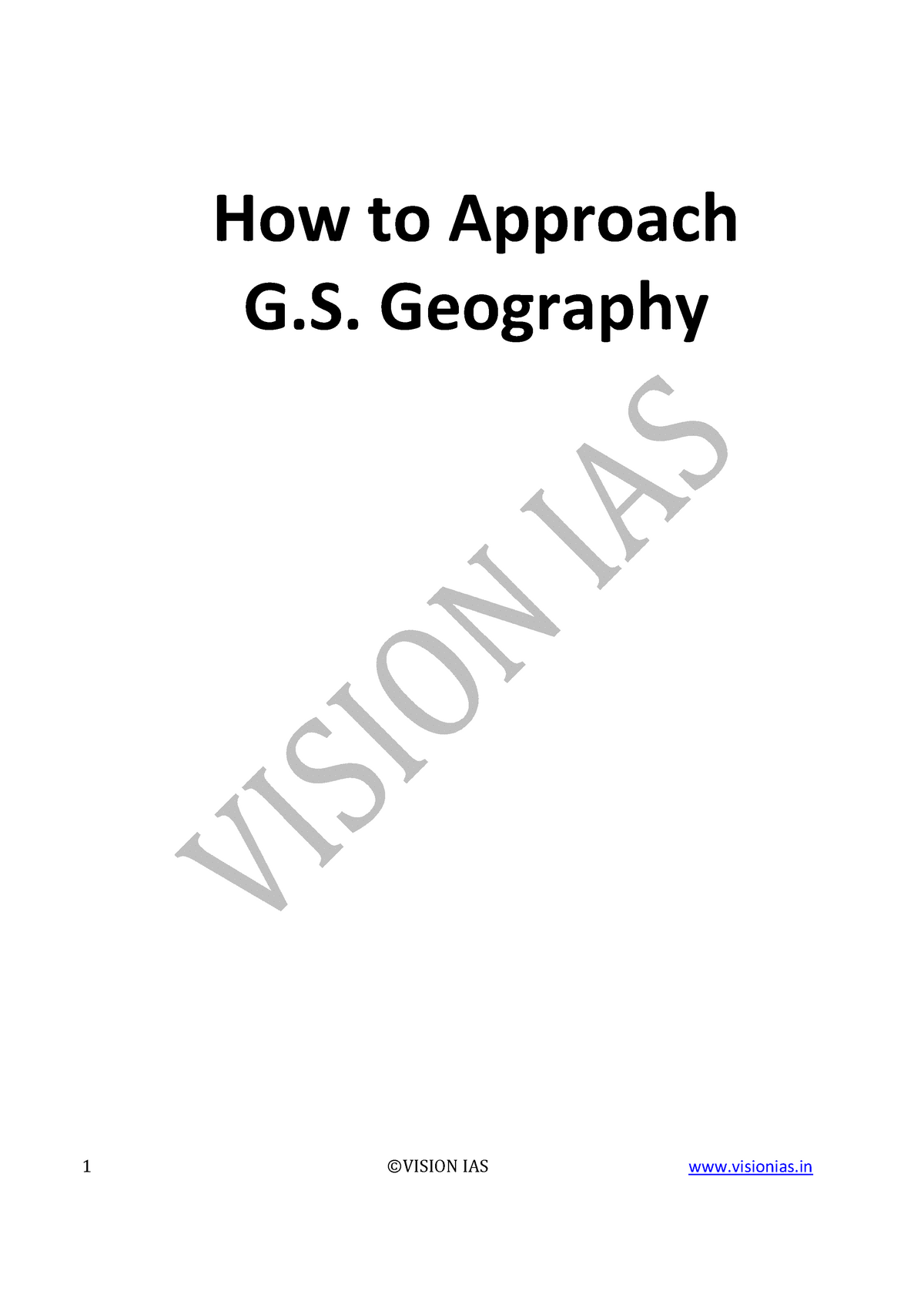 How-to-approach-GS-Geography - CBCS - StuDocu