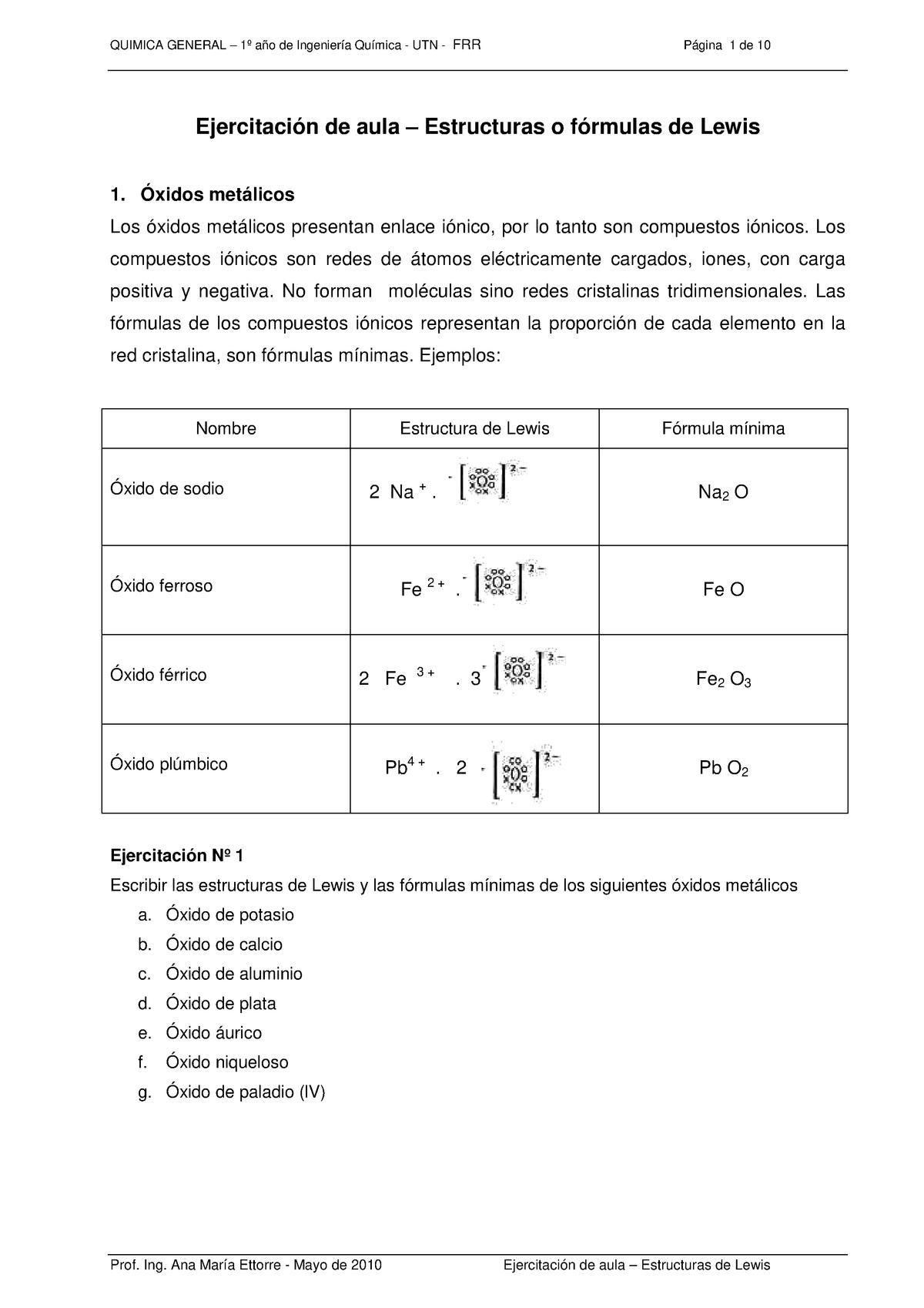 Estructura Lewis Química Unt Studocu