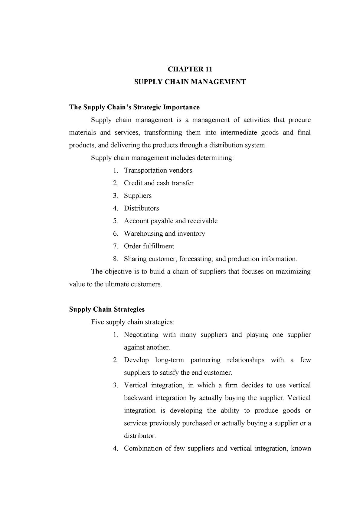 Summary Operations Management - Chapter 11 - MAN355 - StuDocu