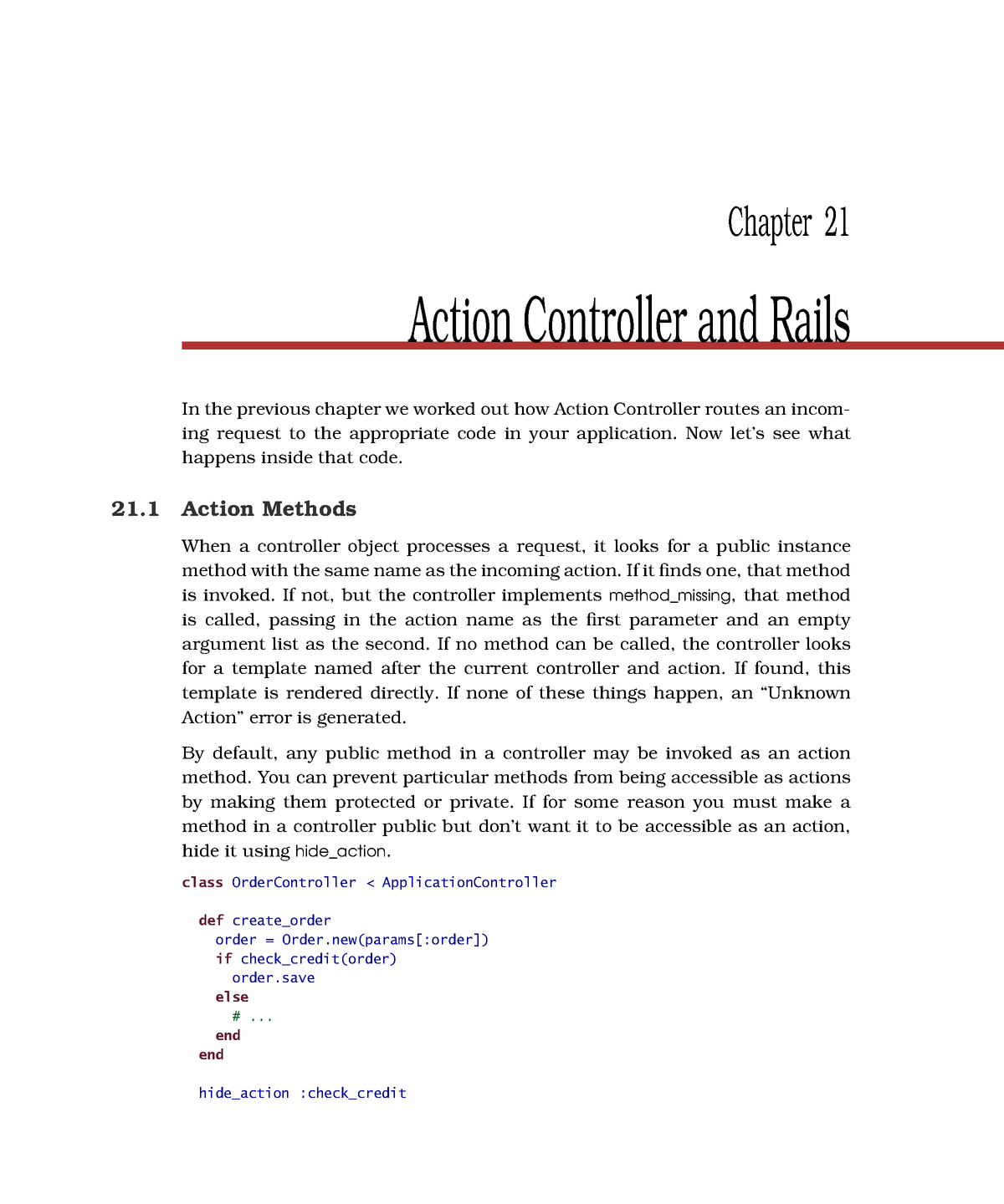 Chapter 21 - Action Controller and Rails - EDA397: Agile development