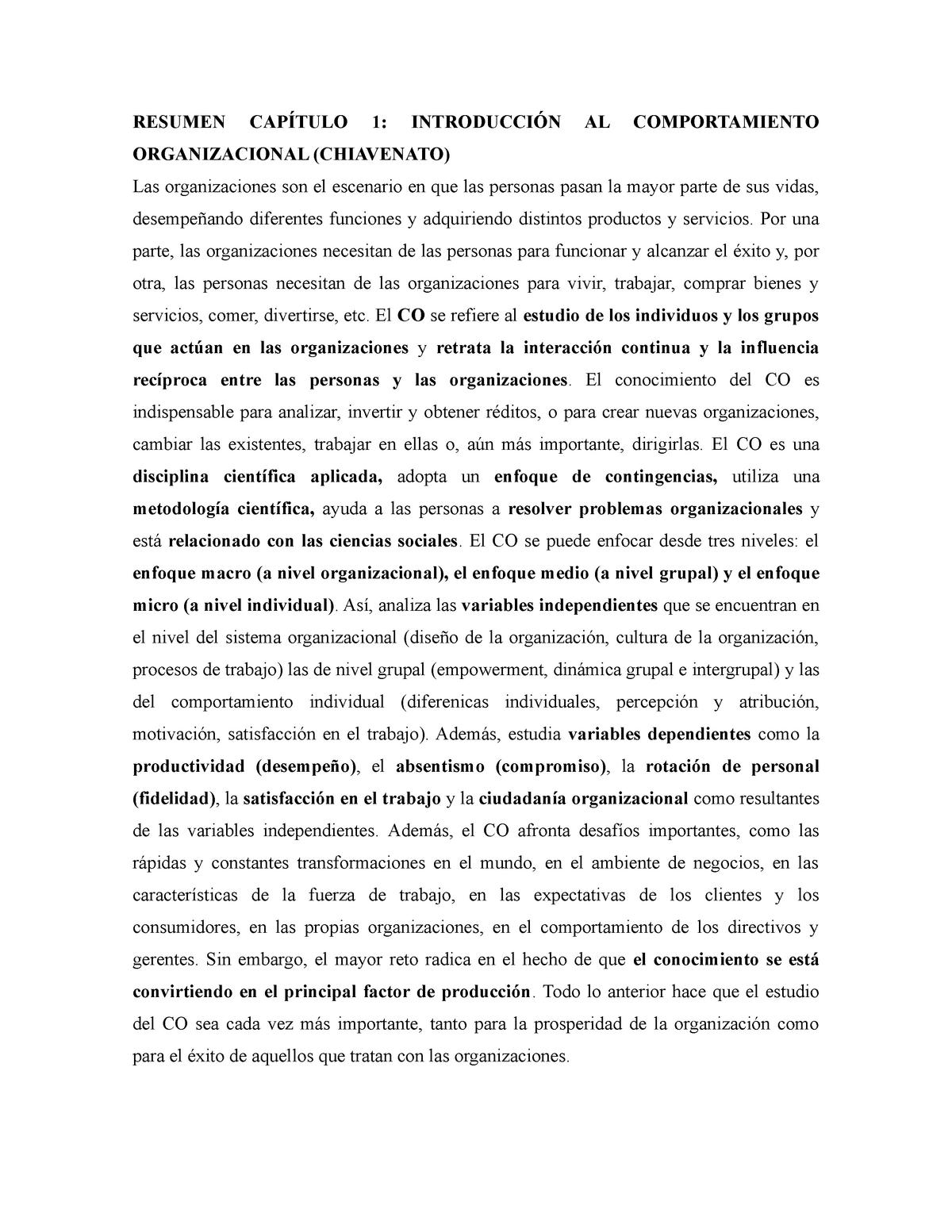 Chiavenato Capítulo 1 Y 2 Psi 362 Pucv Studocu