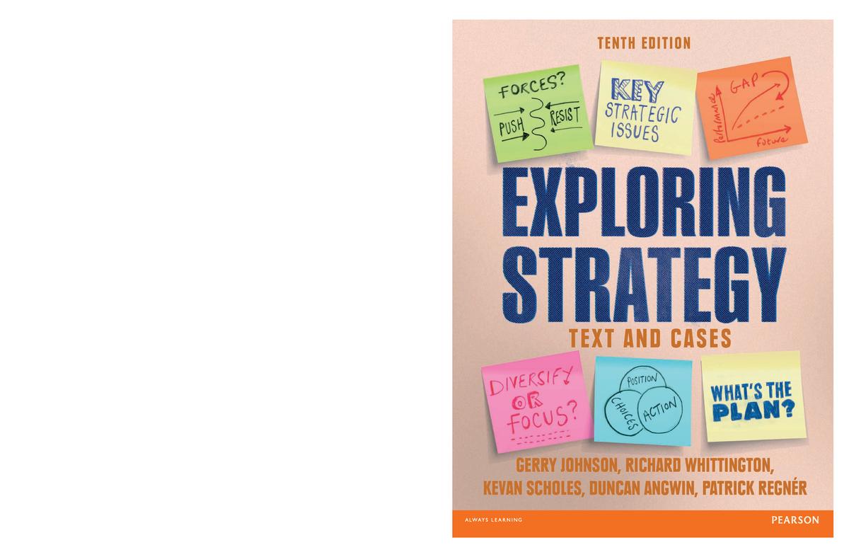 Exploring Strategy 10th Edition - StuDocu
