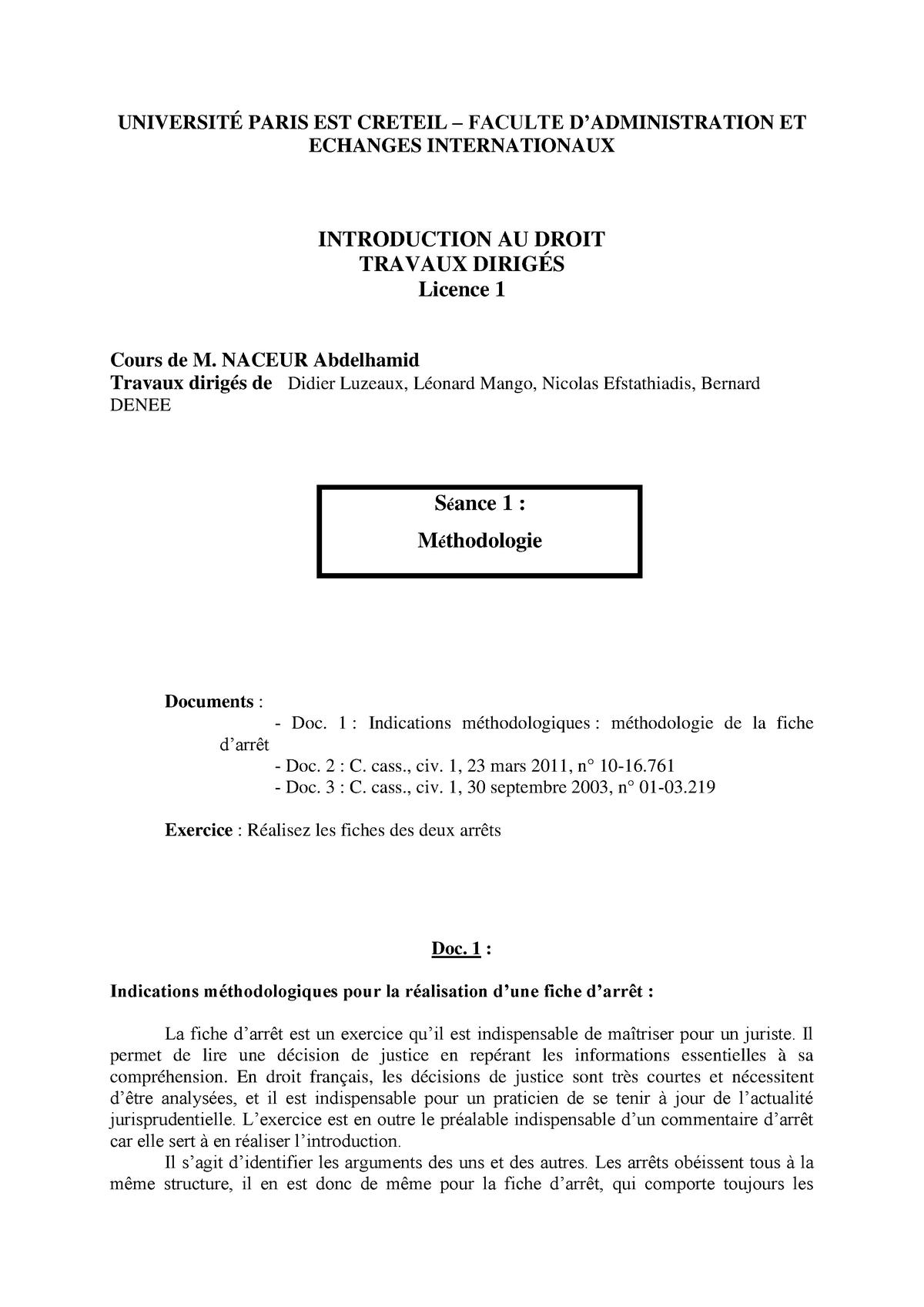 Exemple De Fiche D Arrêt Rédigée - Exemple de Groupes