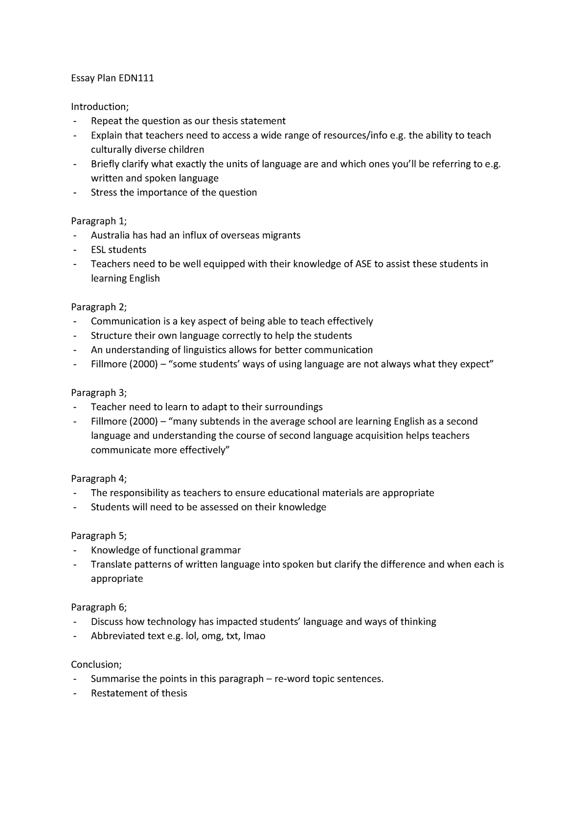 Business Etiquette Essay  Argumentative Essay Thesis also Mahatma Gandhi Essay In English Essay Plan And Essay  Edn  Murdoch  Studocu Expository Essay Thesis Statement