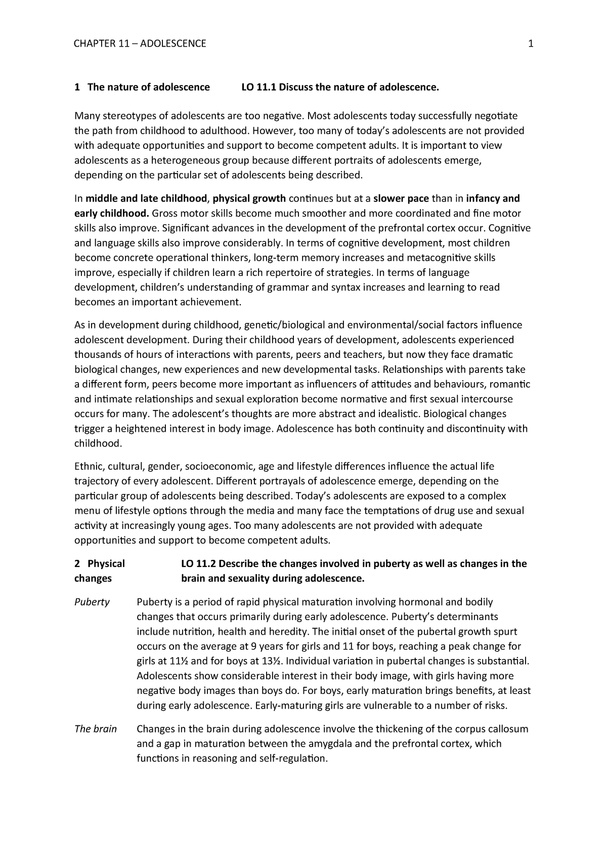 Chapter 11 - Summary A Topical Approach to Life-Span - StuDocu