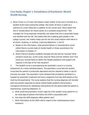 CS Chapter 01 - case study for psych - 213: Psy - StuDocu