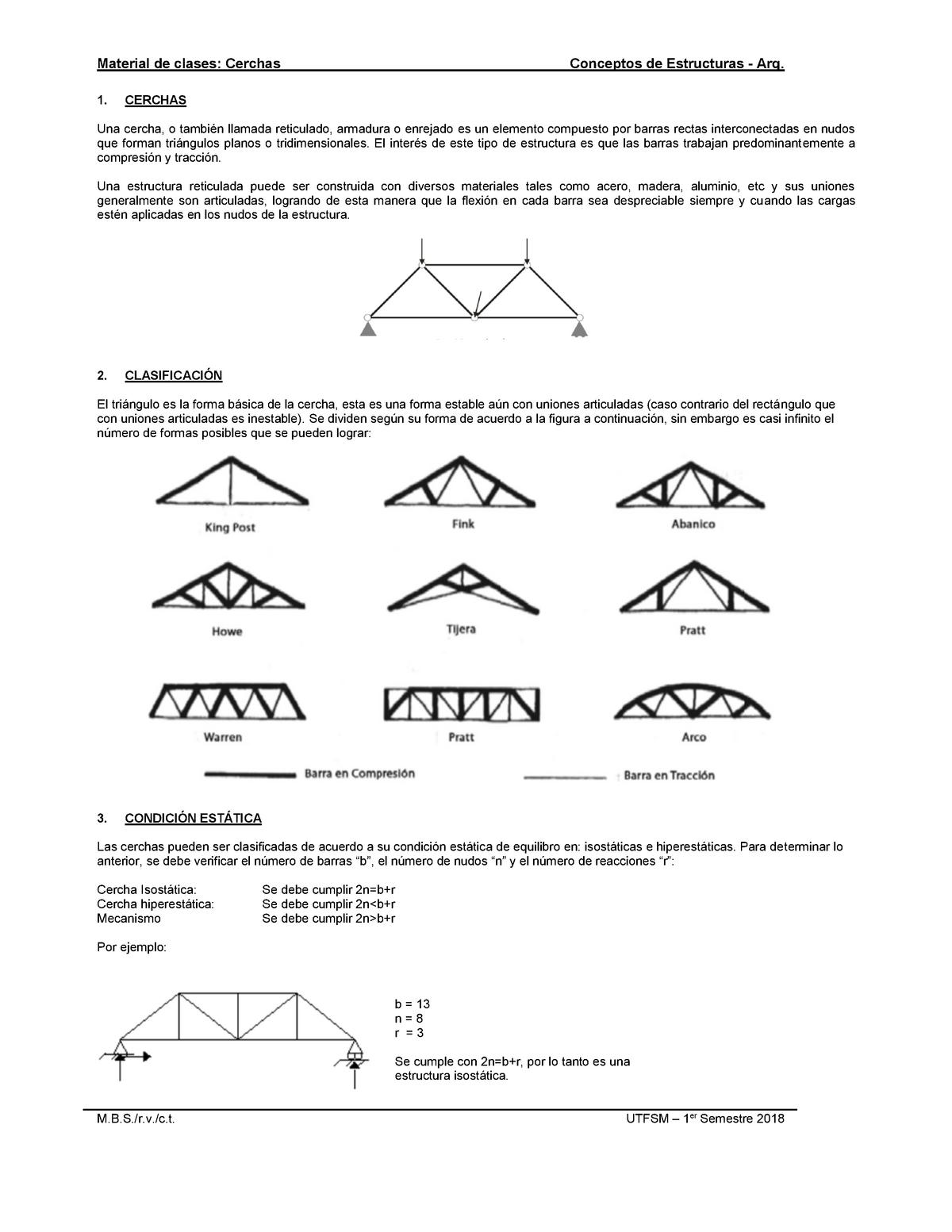 Capítulo Cerchas Conceptos De Estructuras Utfsm Studocu