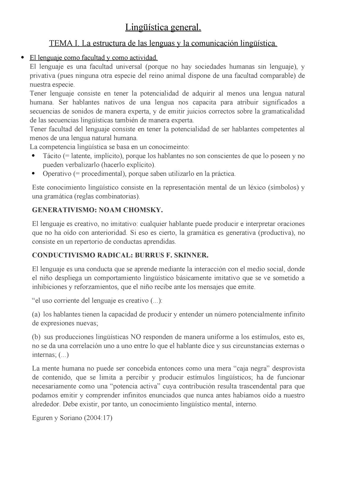 Tema I Apuntes 1 Lingüística Glemol01 1 015 Uniovi