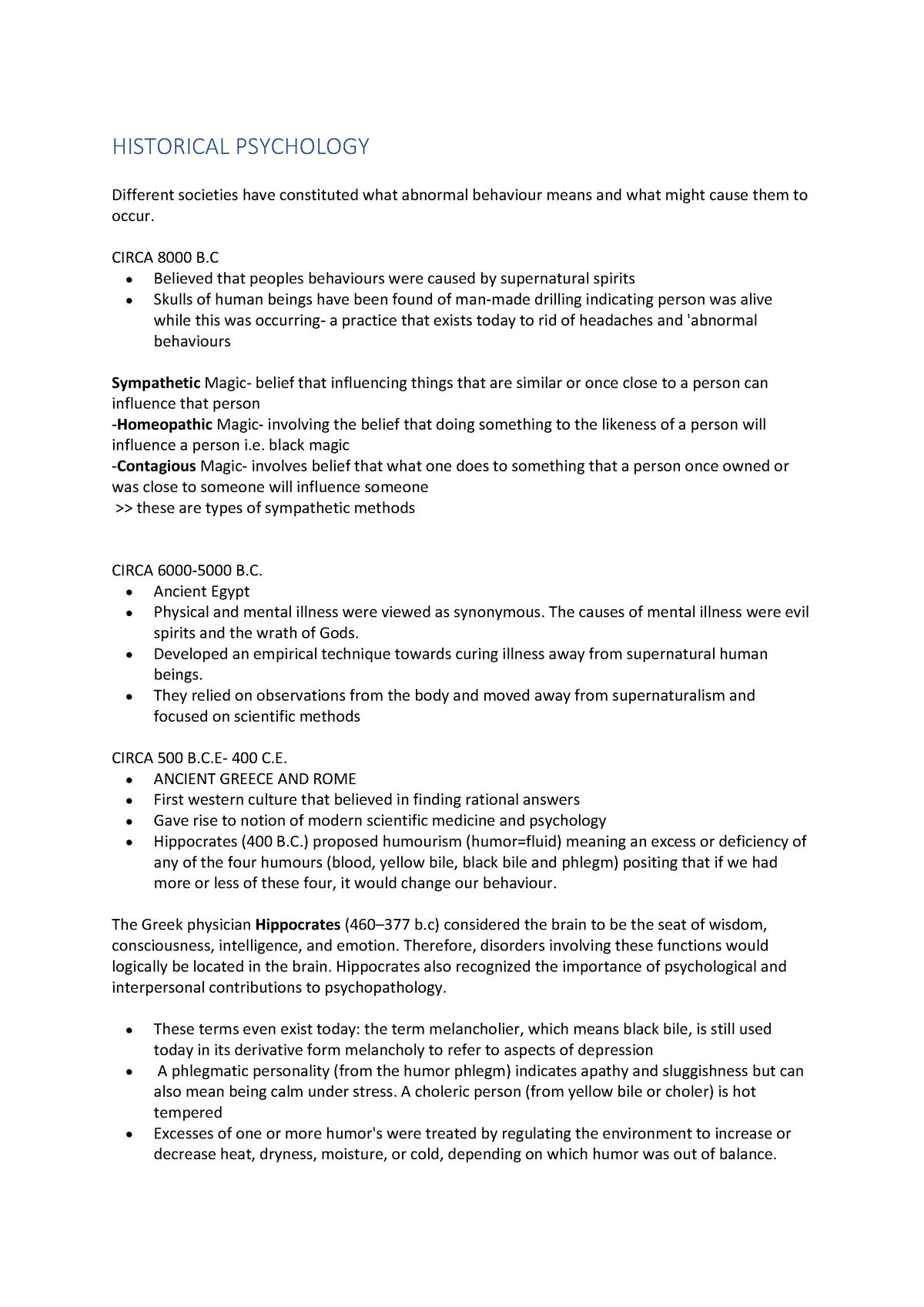 PSYC1023 Notes - PSYC1011 Psychology 1B - UNSW - StuDocu