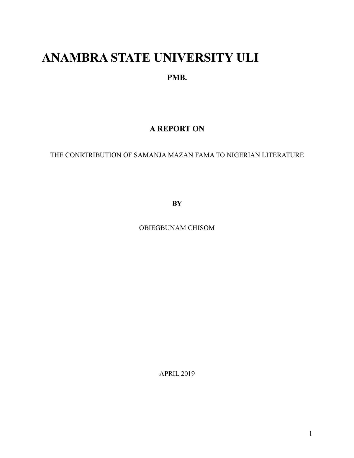 Usman Baba Pategi samanja - English Language Studies MSC102