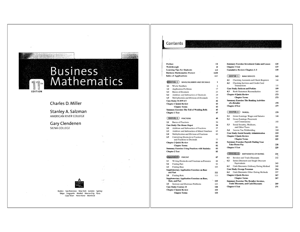 Bm - Includes practices - MATH 104: Fundamentals Of Math 1 - StuDocu