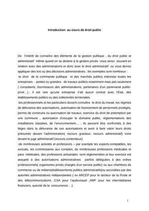 Introduction Cours Dt Public Introduction Au Droit Public Studocu