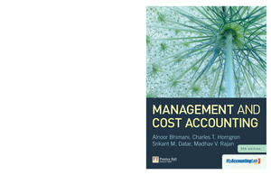 Management And Cost Accounting 5th Edition By Horngr Studocu