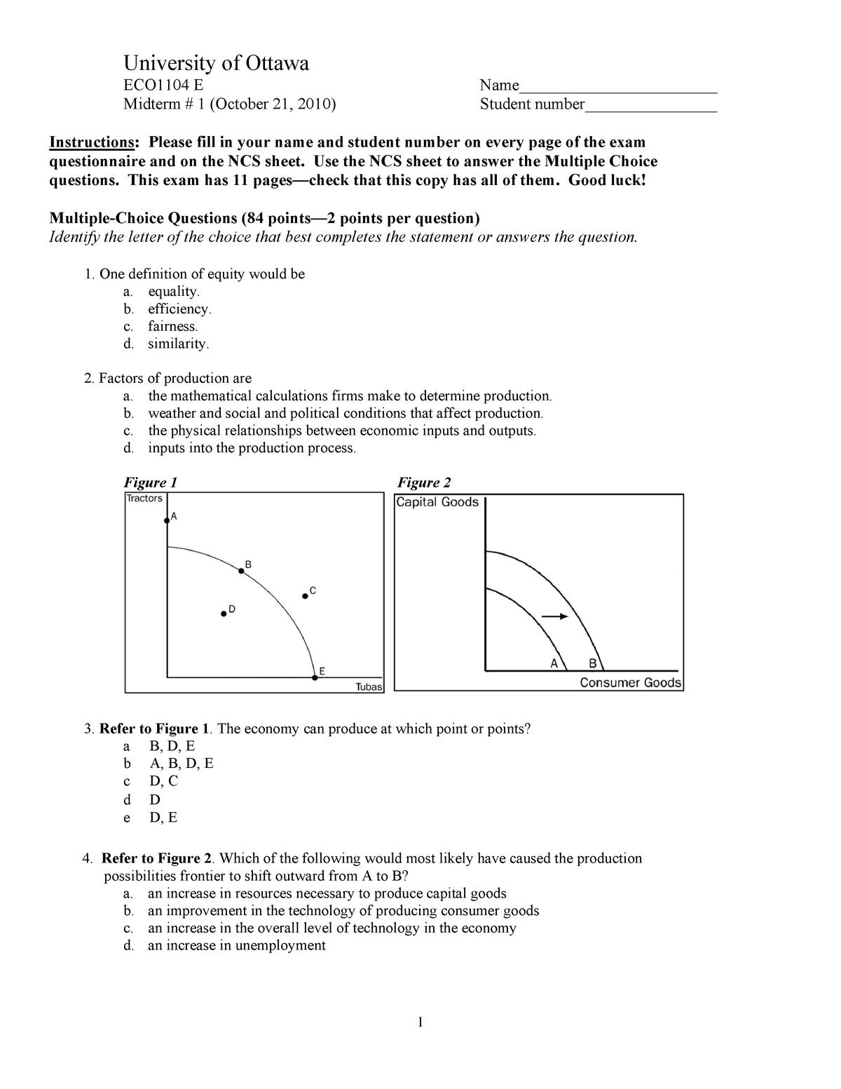 Exam 2017 - ECO1104: Introduction to Microeconomics - StuDocu