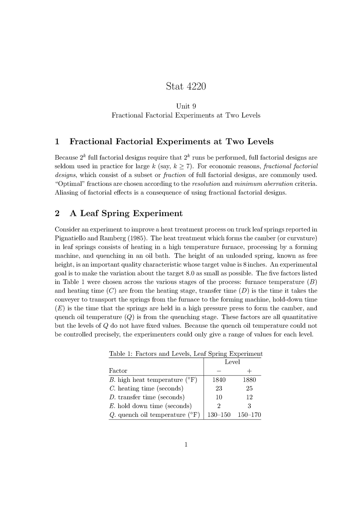 Unit9 - Lecture notes 9 - STAT 4220: Appl Exp Designs - StuDocu