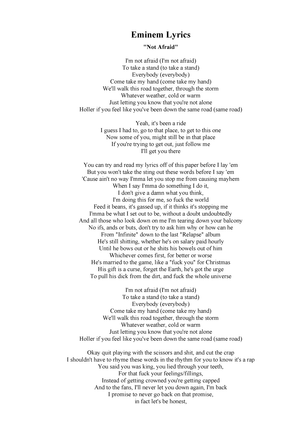 good song lyrics to analyze