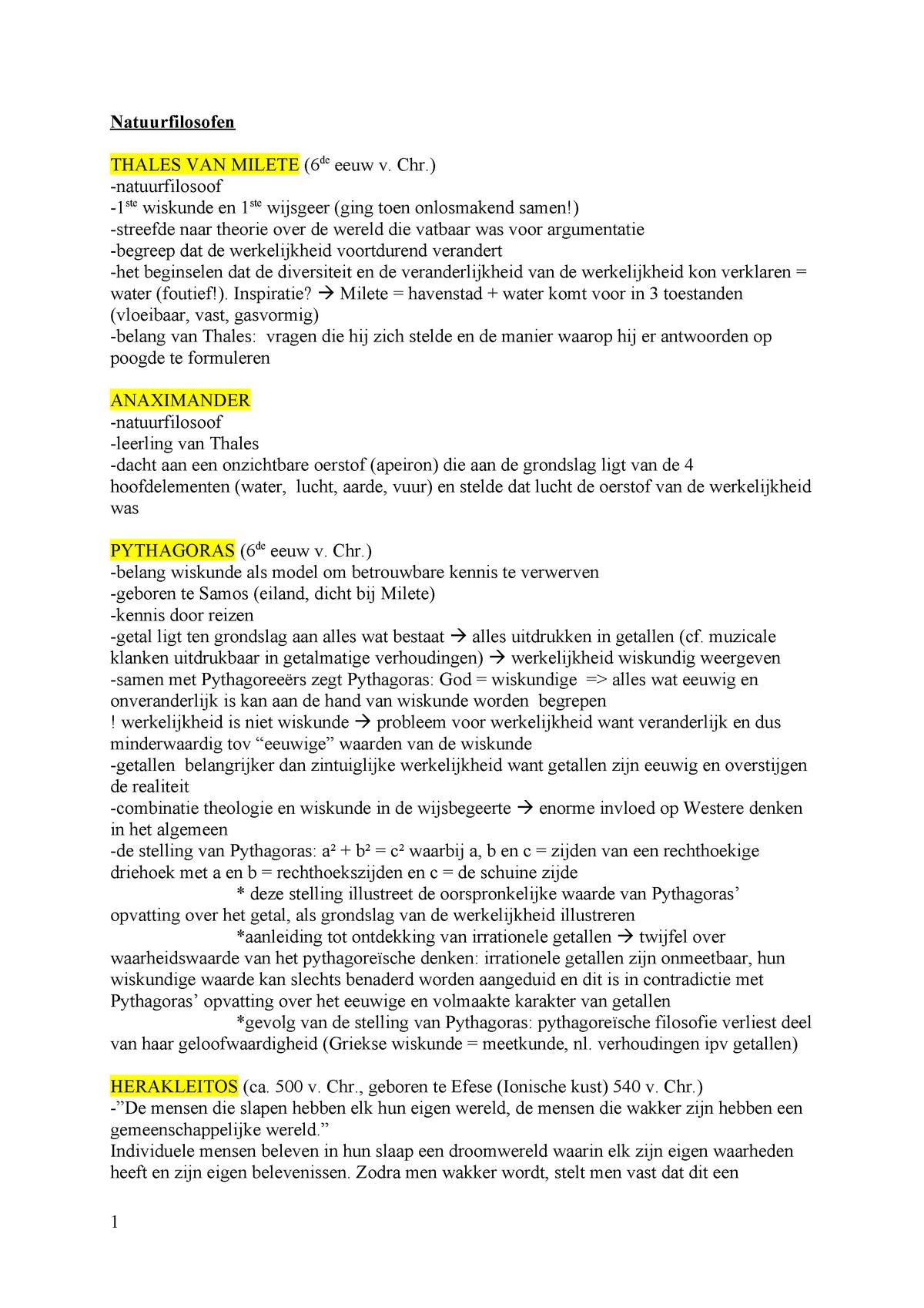 Samenvatting Cursus Wijsbegeerte C003528 Ugent Studocu