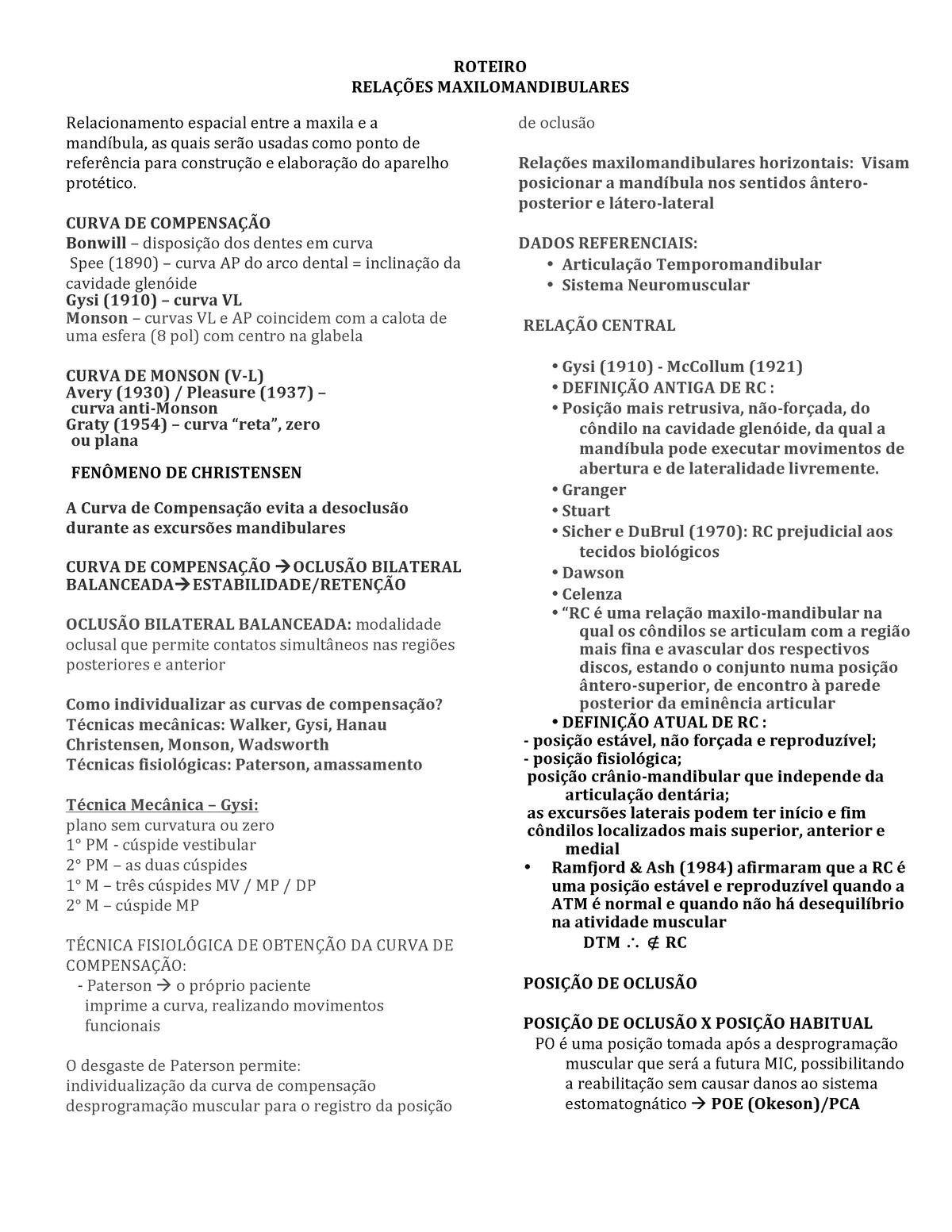 Prótese Tote Up Dentadura Completa Resumos Go Segunda   Curva De ...