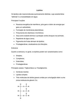 Bioquímica Lipídios Icsa13 Ufba Studocu