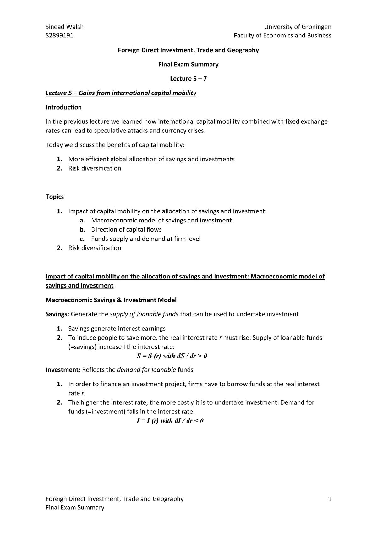 College-aantekeningen, Colleges 5-7 | Foreign Dir