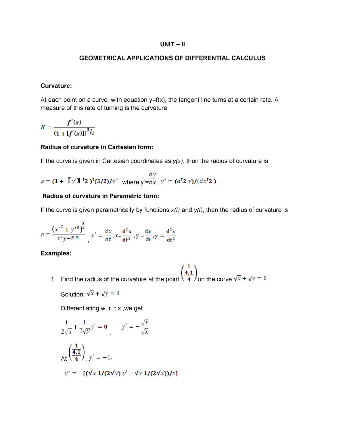 Note 1437658408 - Unit 2 - SMT1101: Engineering Mathematics