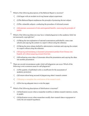Exam 2018 - Research Ethics - StuDocu