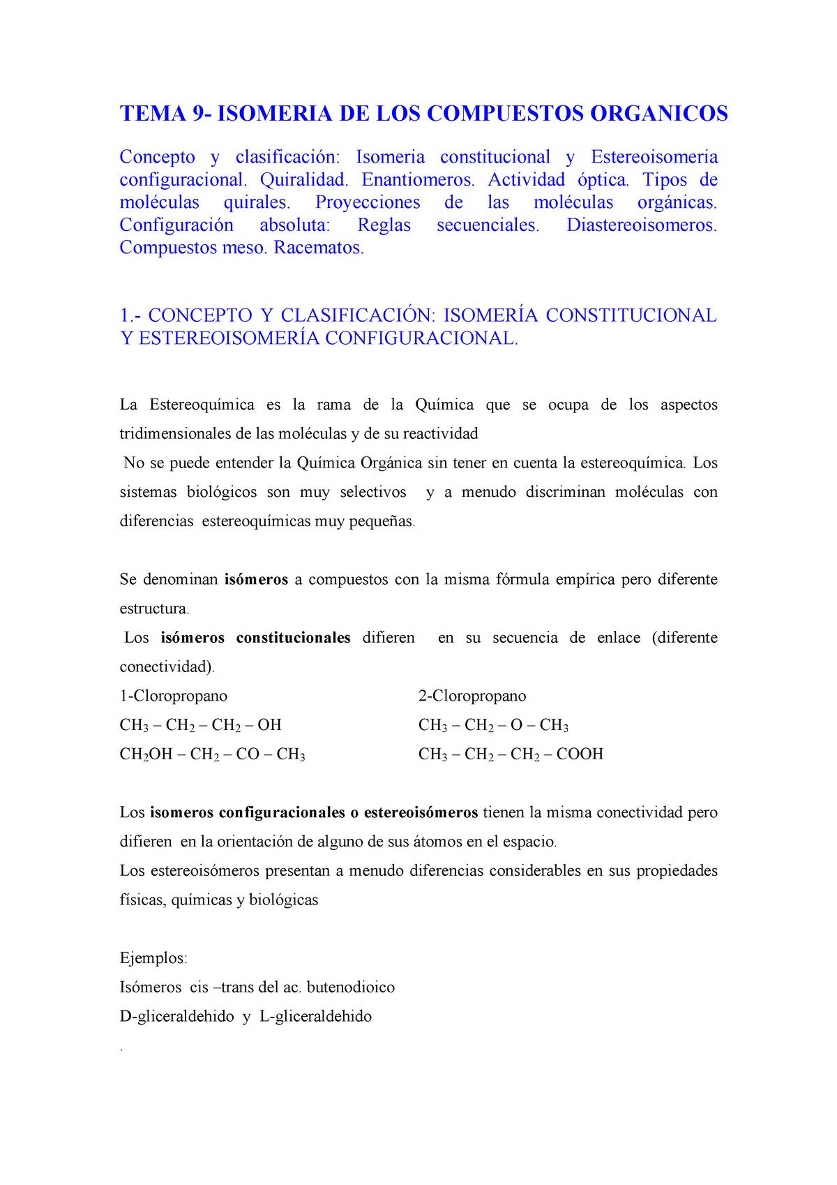 Estereoisomeria Apuntes 1 Química General Upv Studocu