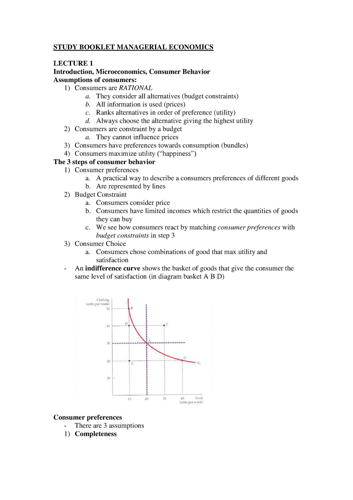 Lecture notes, lectures 1-9 - Lecture study booklet