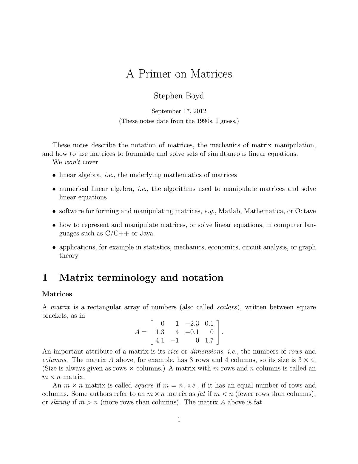 Practical - A primer on matrices - CS 168: The Modern Algorithmic