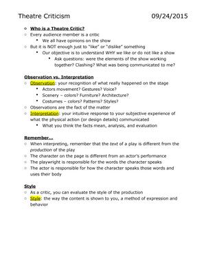 interpretation analysis and evaluation are types of criticism