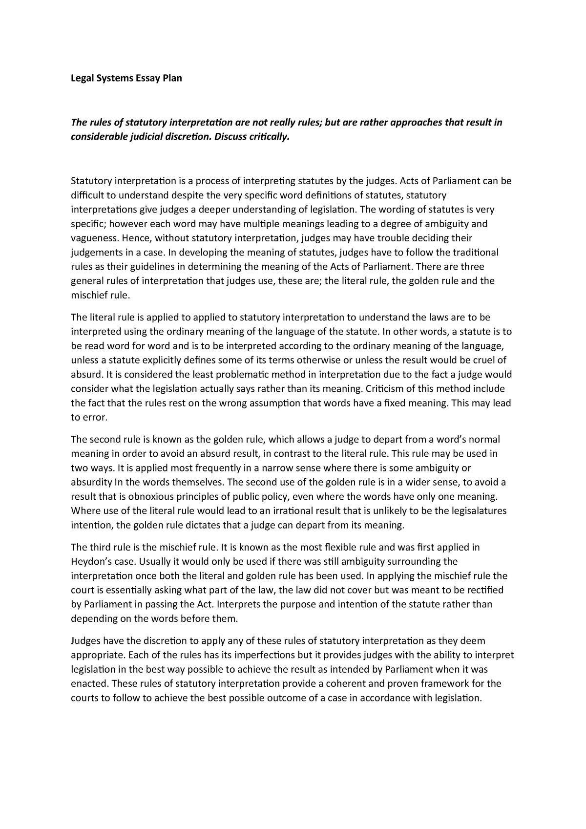essay on interpretation