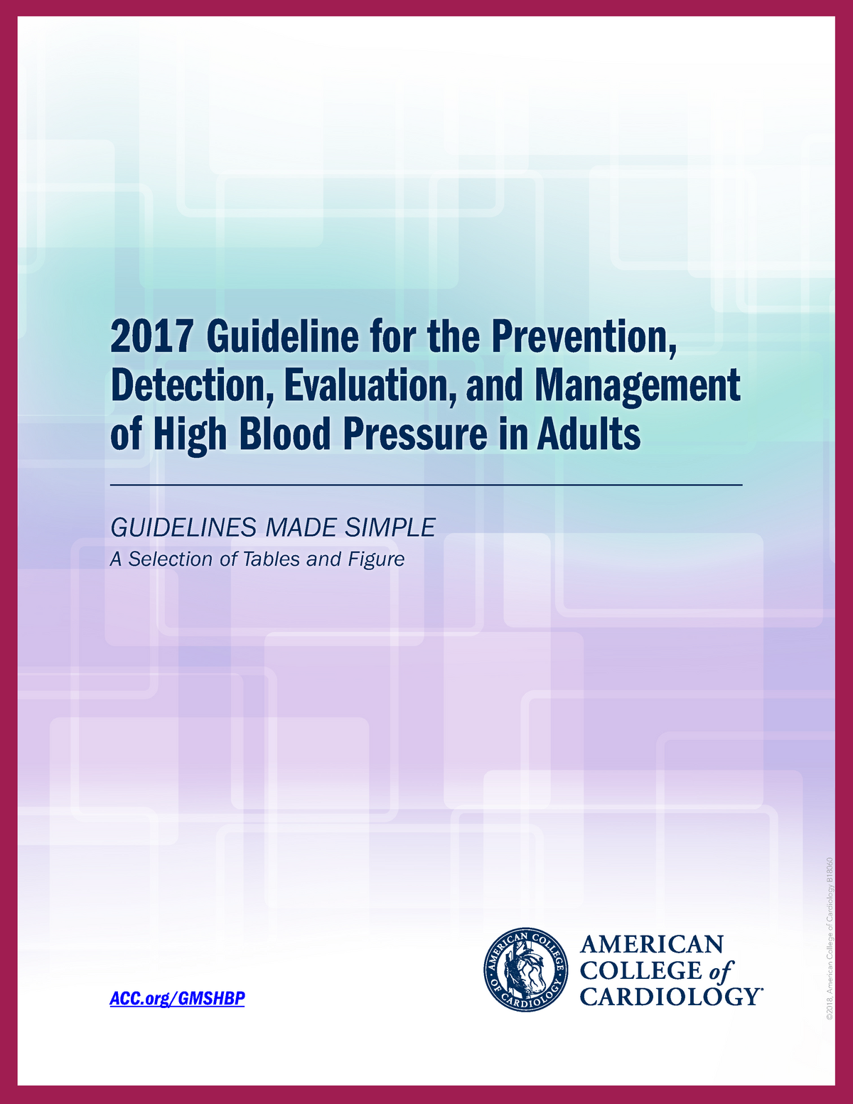 2017 Guideline for the Prevention, detection, evaluation