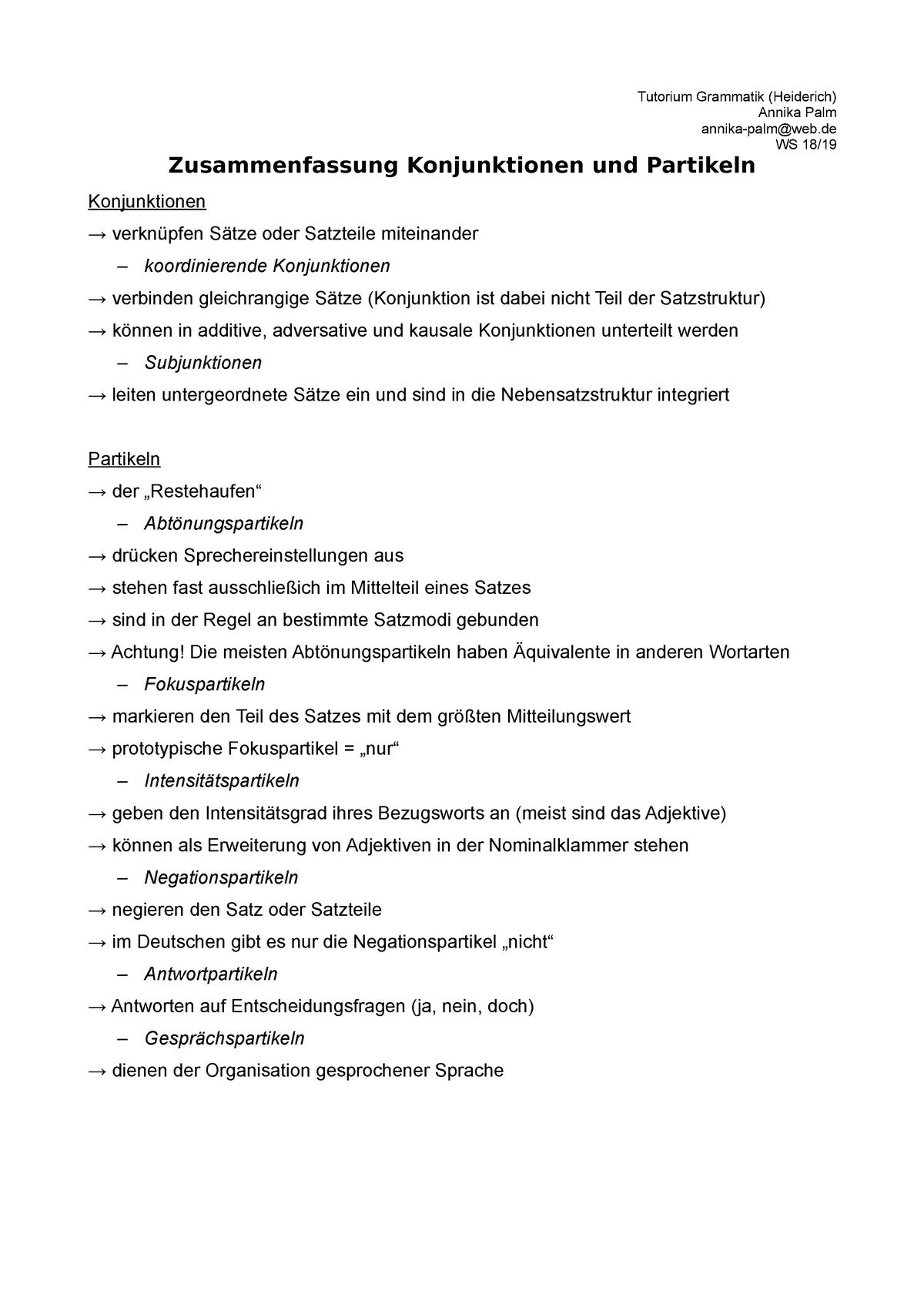 Konjunktionen liste pdf